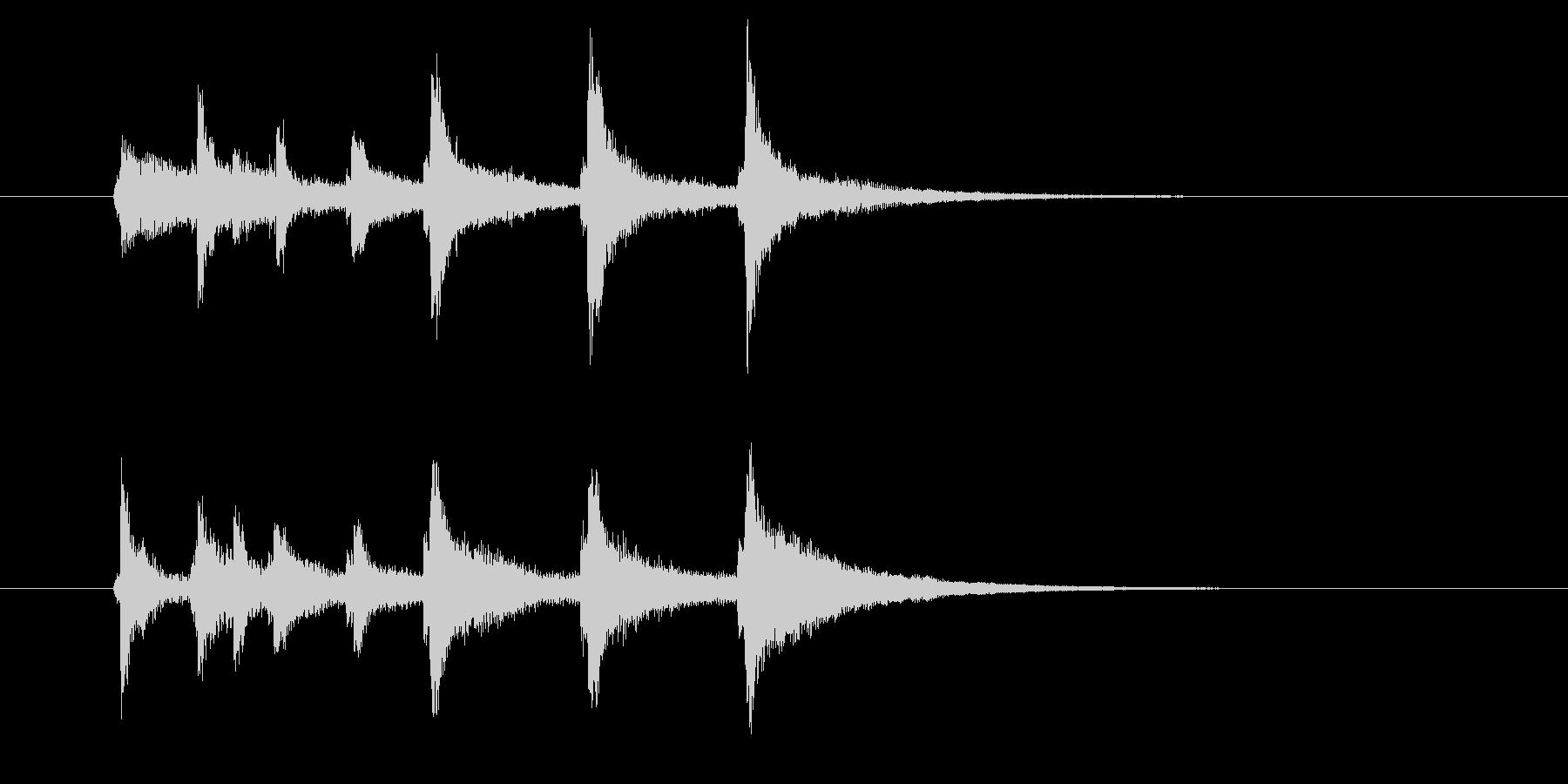 チャンチャララン(透明感、爽やか)の未再生の波形