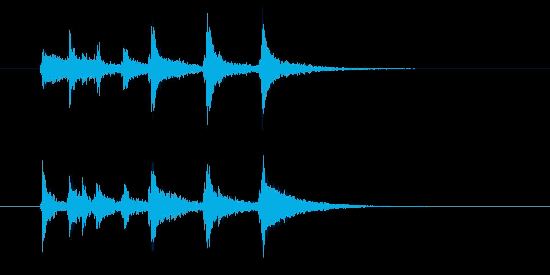 チャンチャララン(透明感、爽やか)の再生済みの波形