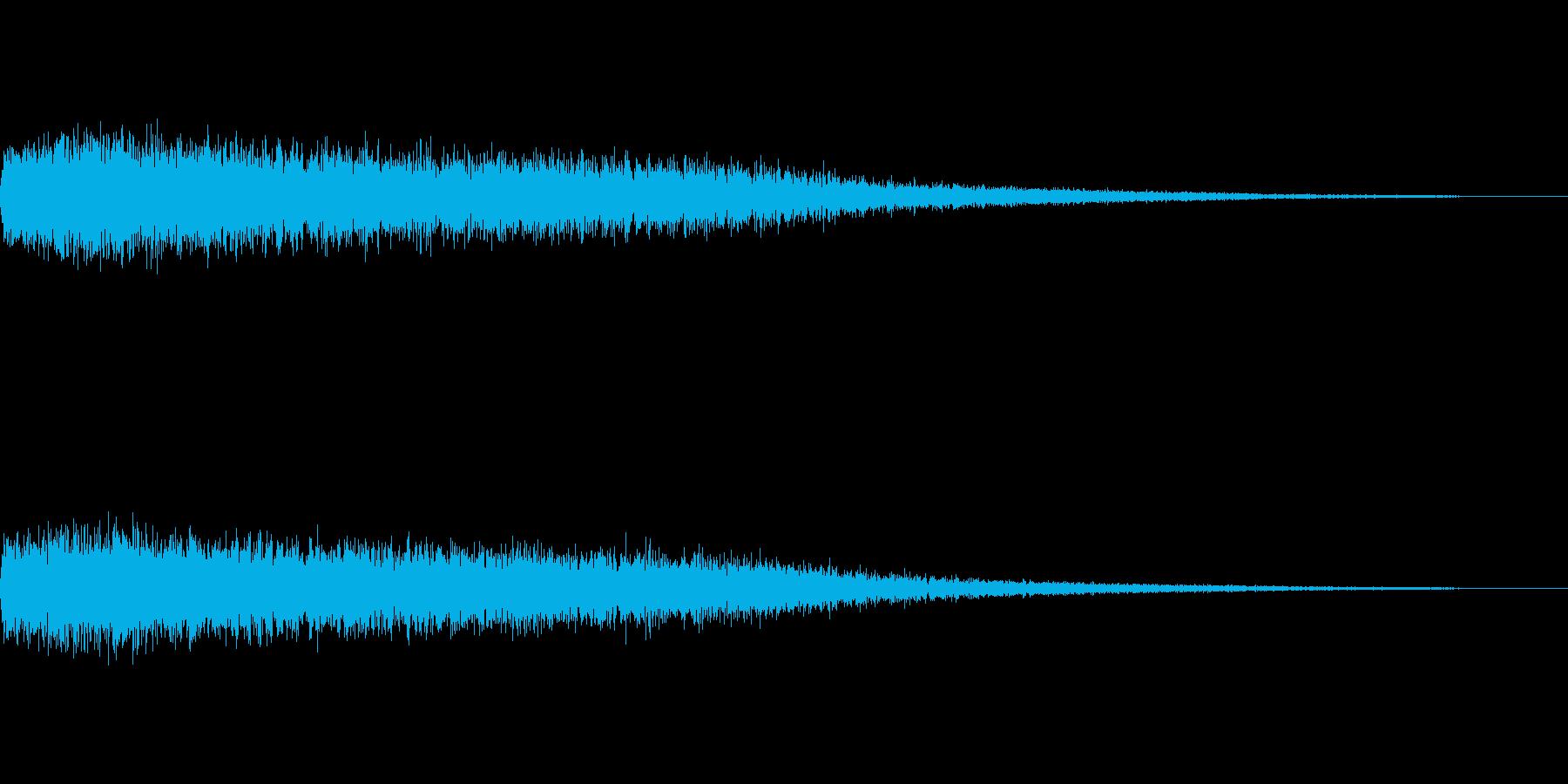 [ピシュオーン]魔法、反射(鋭く長い)の再生済みの波形