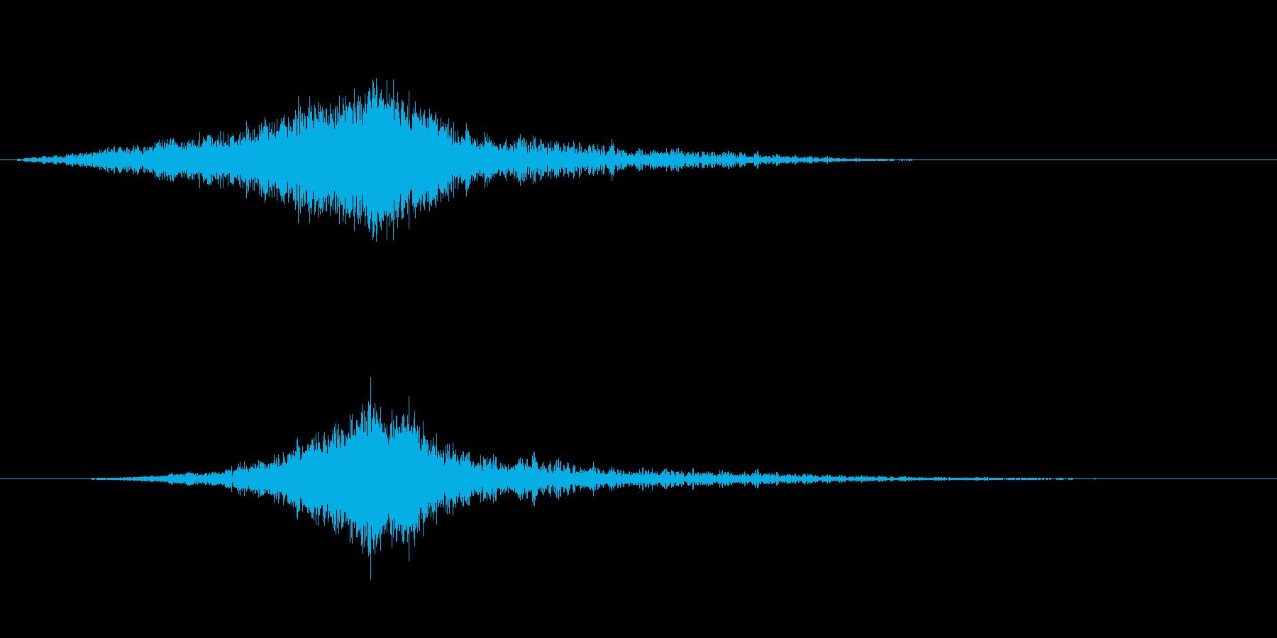 映画でよくあるライズヒットサウンドロゴ3の再生済みの波形