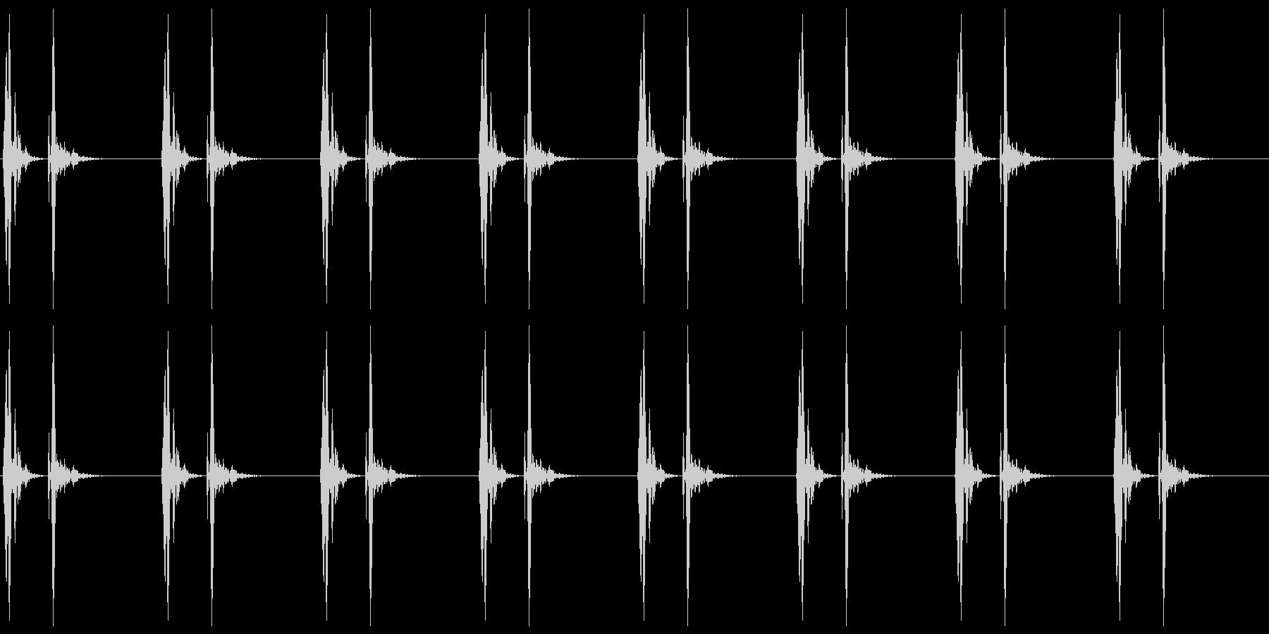 【 心臓 】ドックンドックン (速め)の未再生の波形