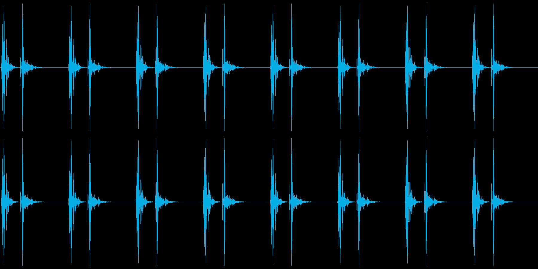 【 心臓 】ドックンドックン (速め)の再生済みの波形