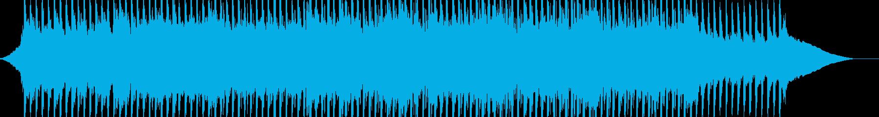 力強く羽ばたいていく爽やかなイメージの曲の再生済みの波形
