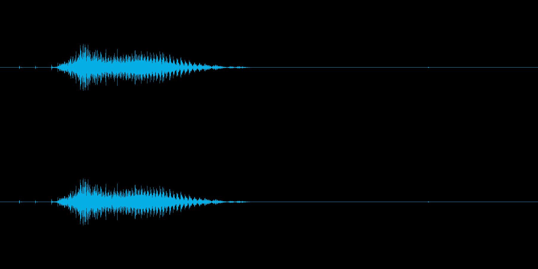 チー(麻雀)の再生済みの波形