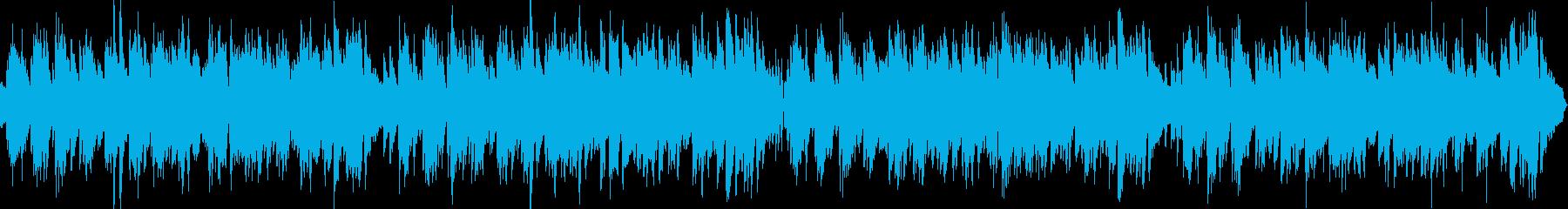 ループ2台のピアノ生演奏ハッピーブルースの再生済みの波形