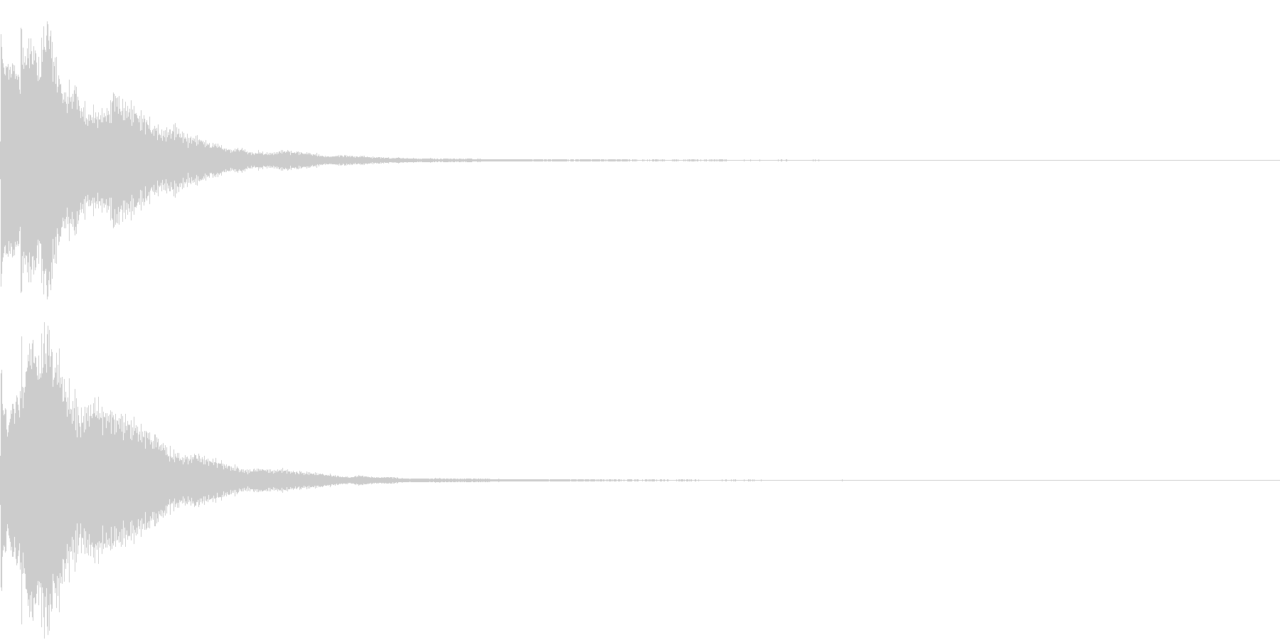 キラリン チャラリン クリック 38の未再生の波形