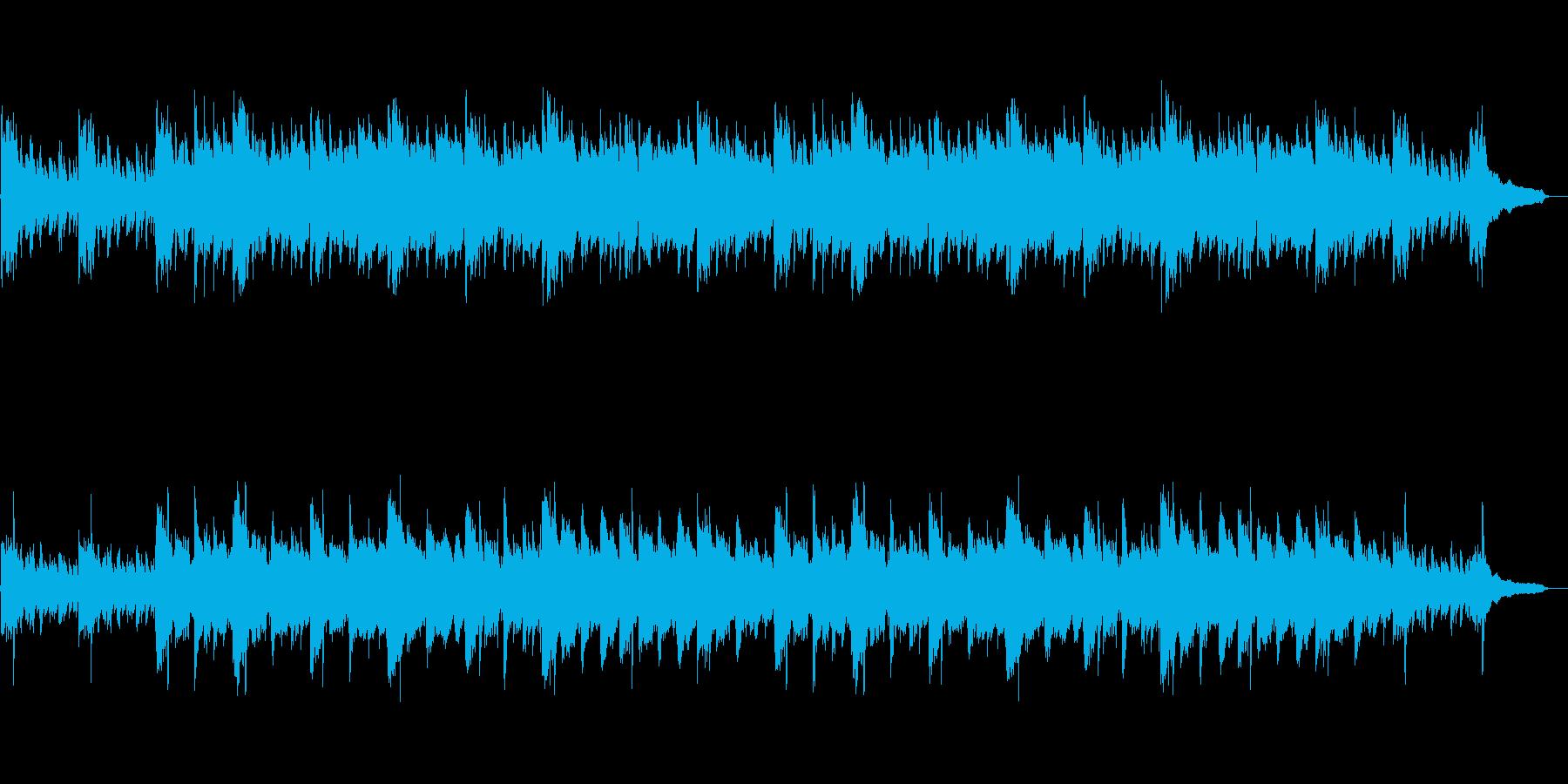 ホラーやサスペンス向けの怪しげな管弦楽の再生済みの波形