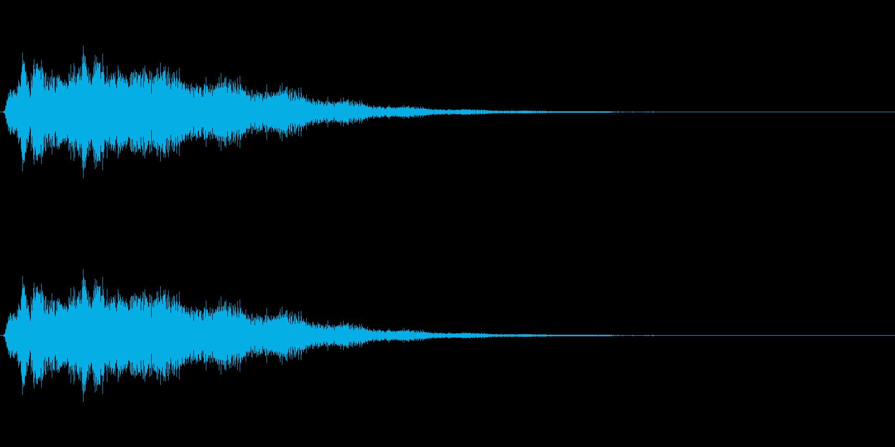 金属・ガラスが散らばる音の再生済みの波形