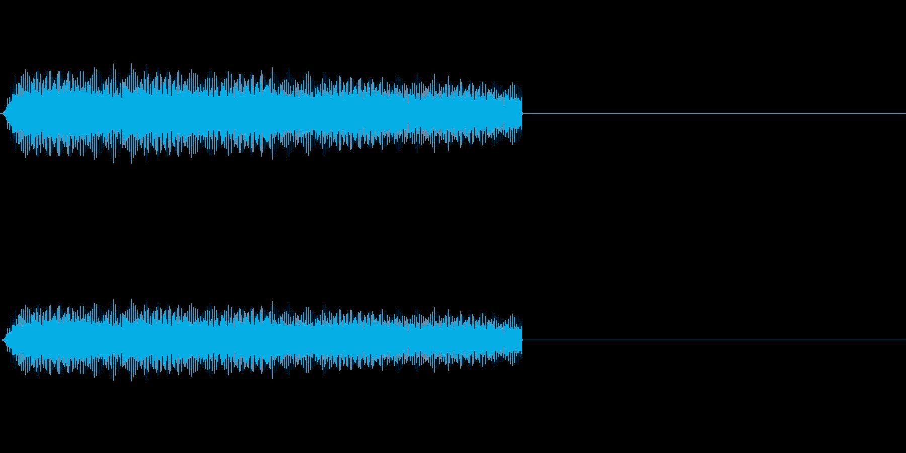 びよよん~少しはやめで高い音~の再生済みの波形