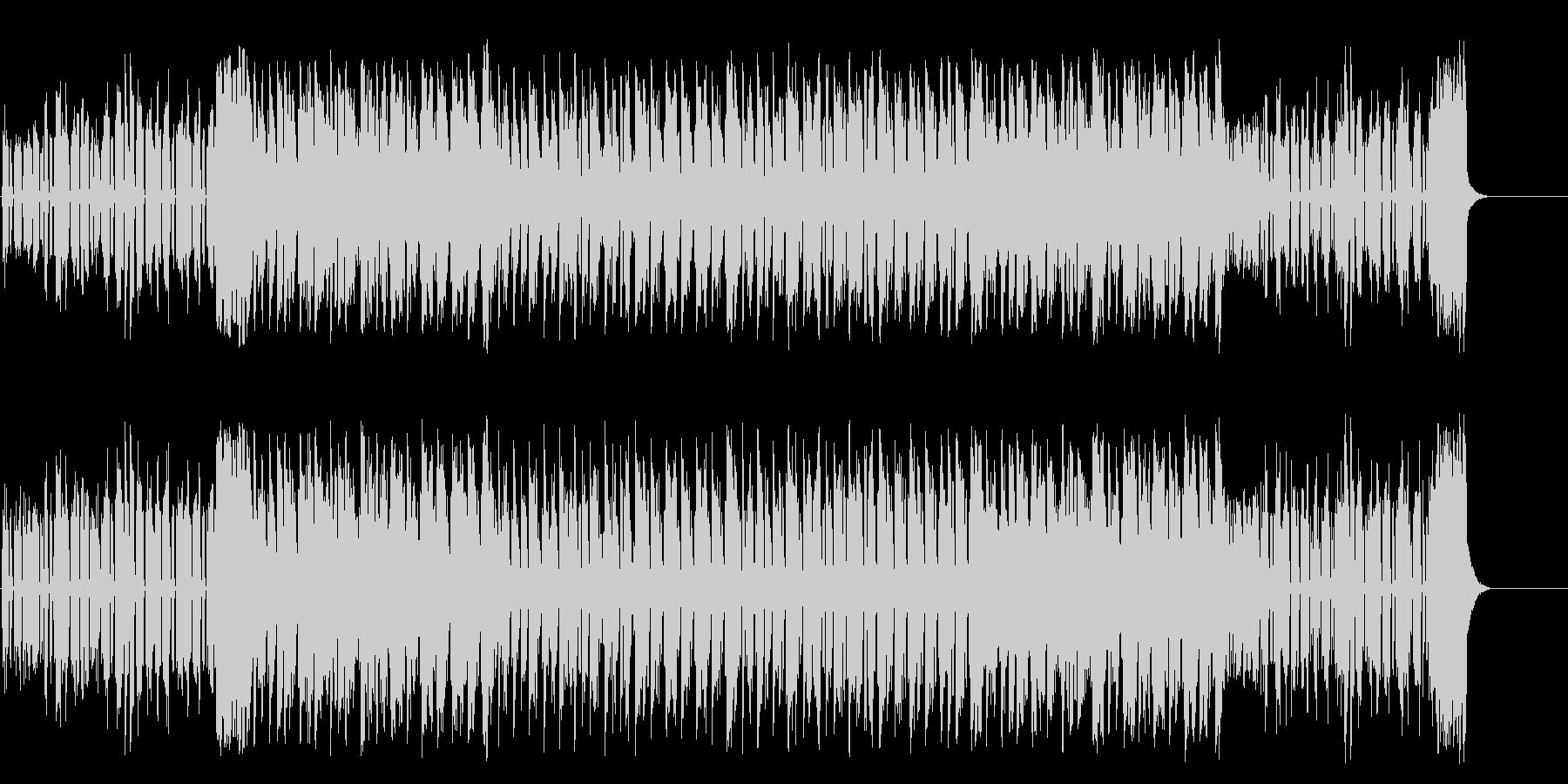 闇を徘徊するマイナーテクノポップの未再生の波形