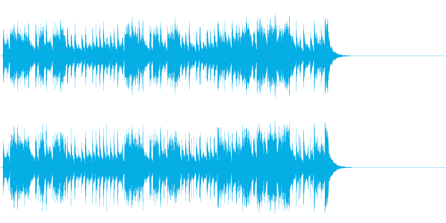 軽快なポップ R&R(Aメロ)の再生済みの波形