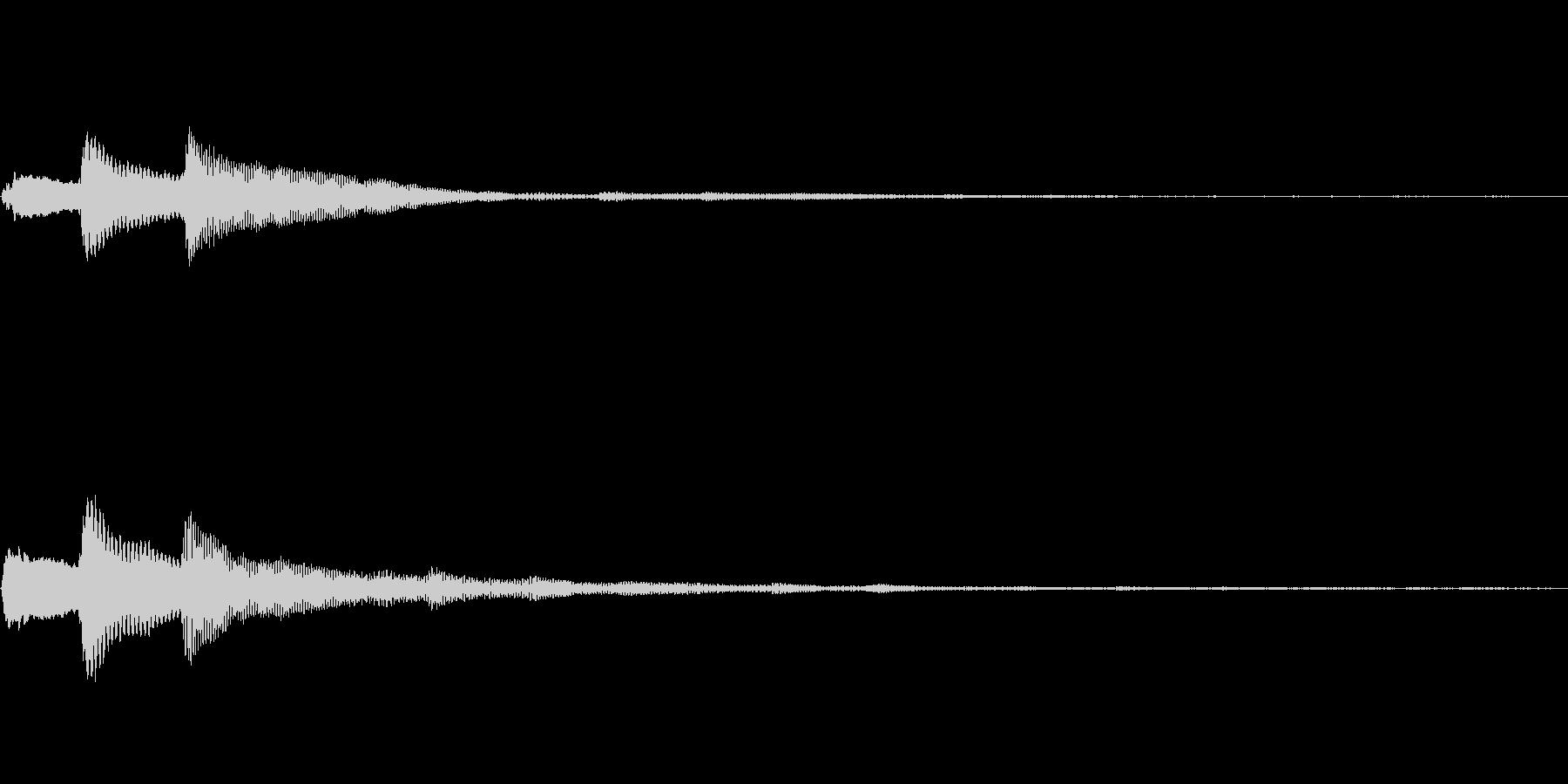 ピロリーンキャンセル音の未再生の波形
