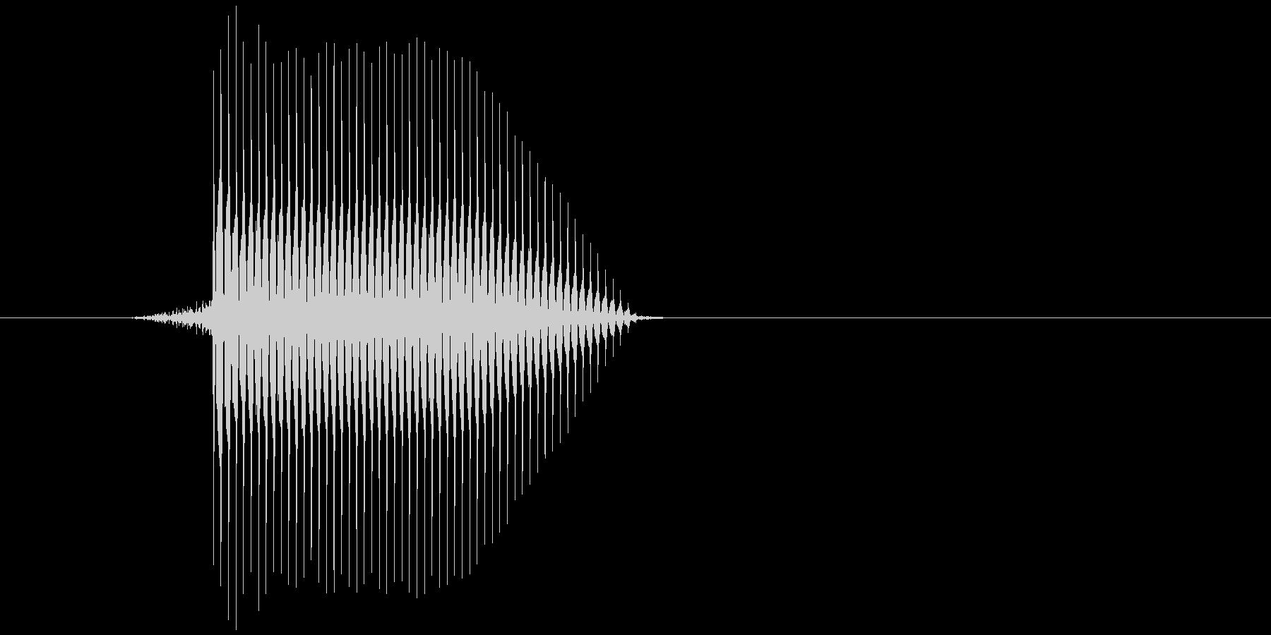ゲーム(ファミコン風)セレクト音_034の未再生の波形