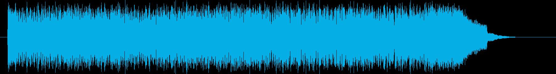 高揚感のあるテクノサウンドの再生済みの波形