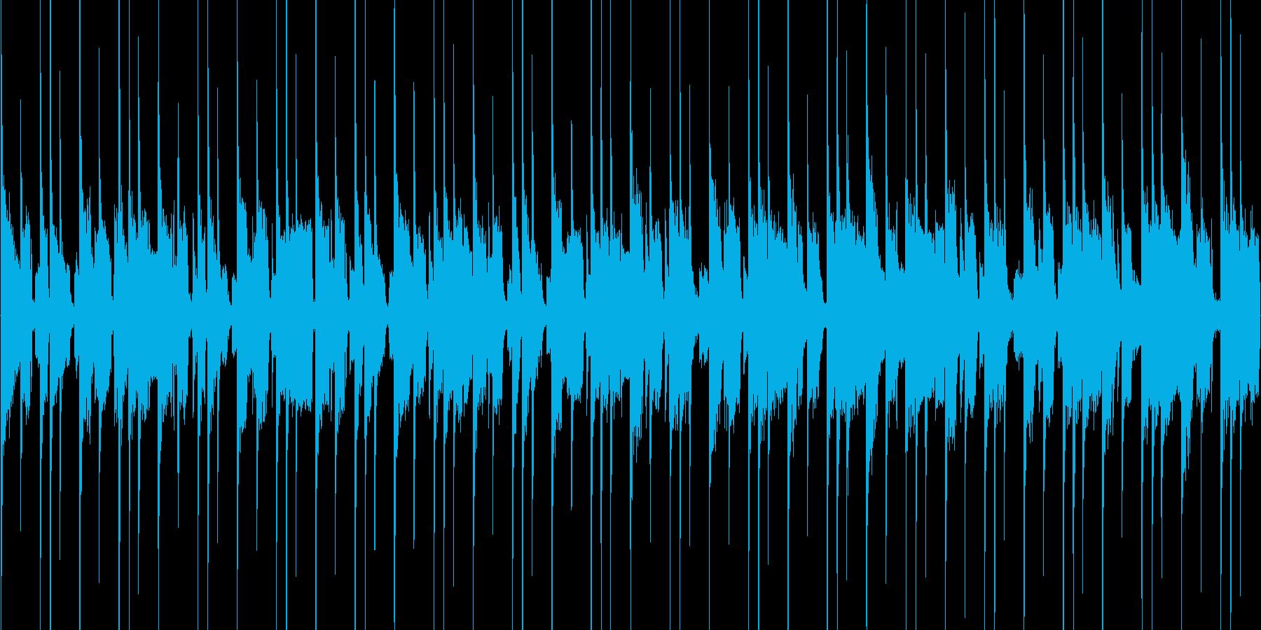 クイズゲーム向けの約40秒ループ曲の再生済みの波形