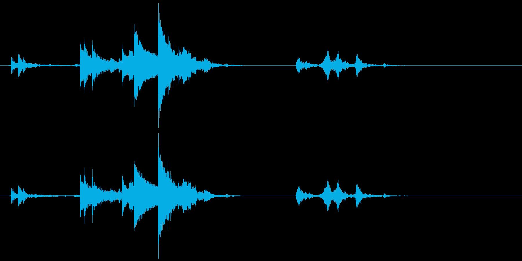 鈴の音 カランカラの再生済みの波形