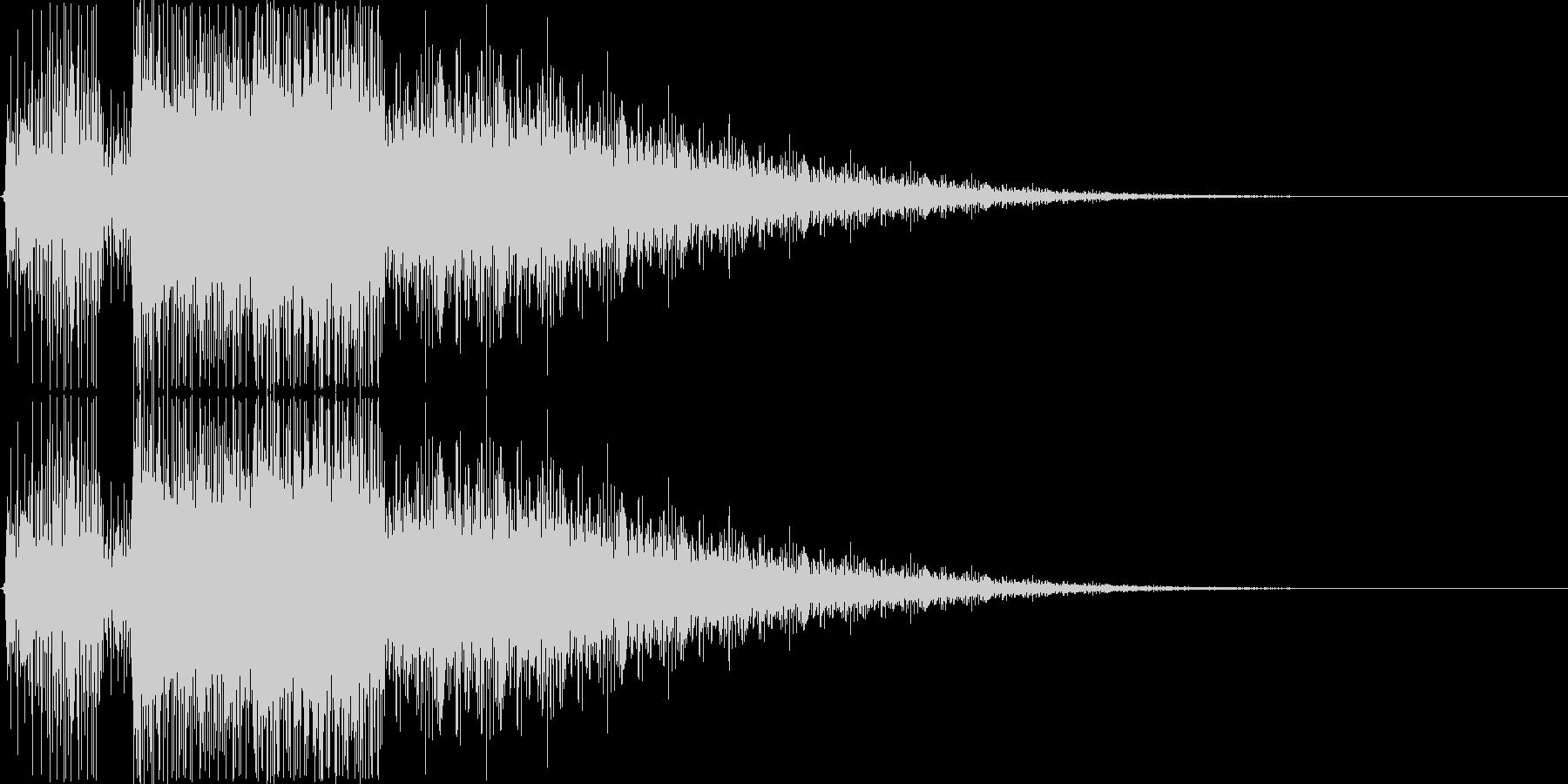 カウントダウン終了音の未再生の波形