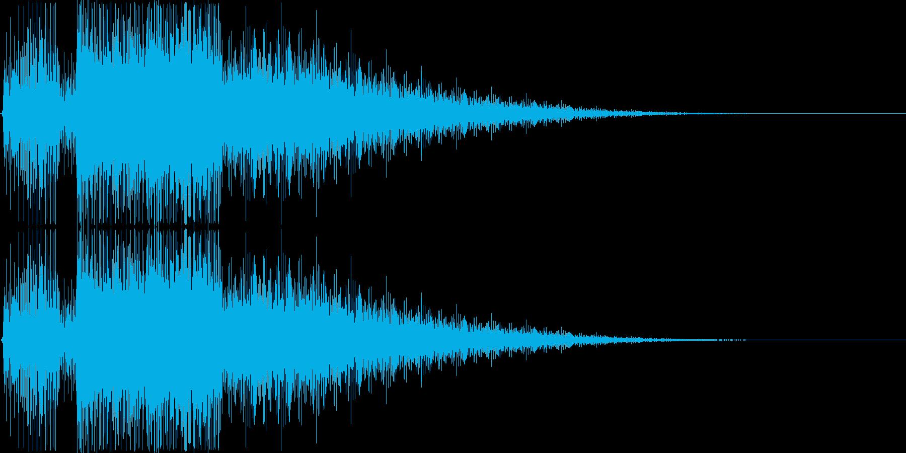 カウントダウン終了音の再生済みの波形