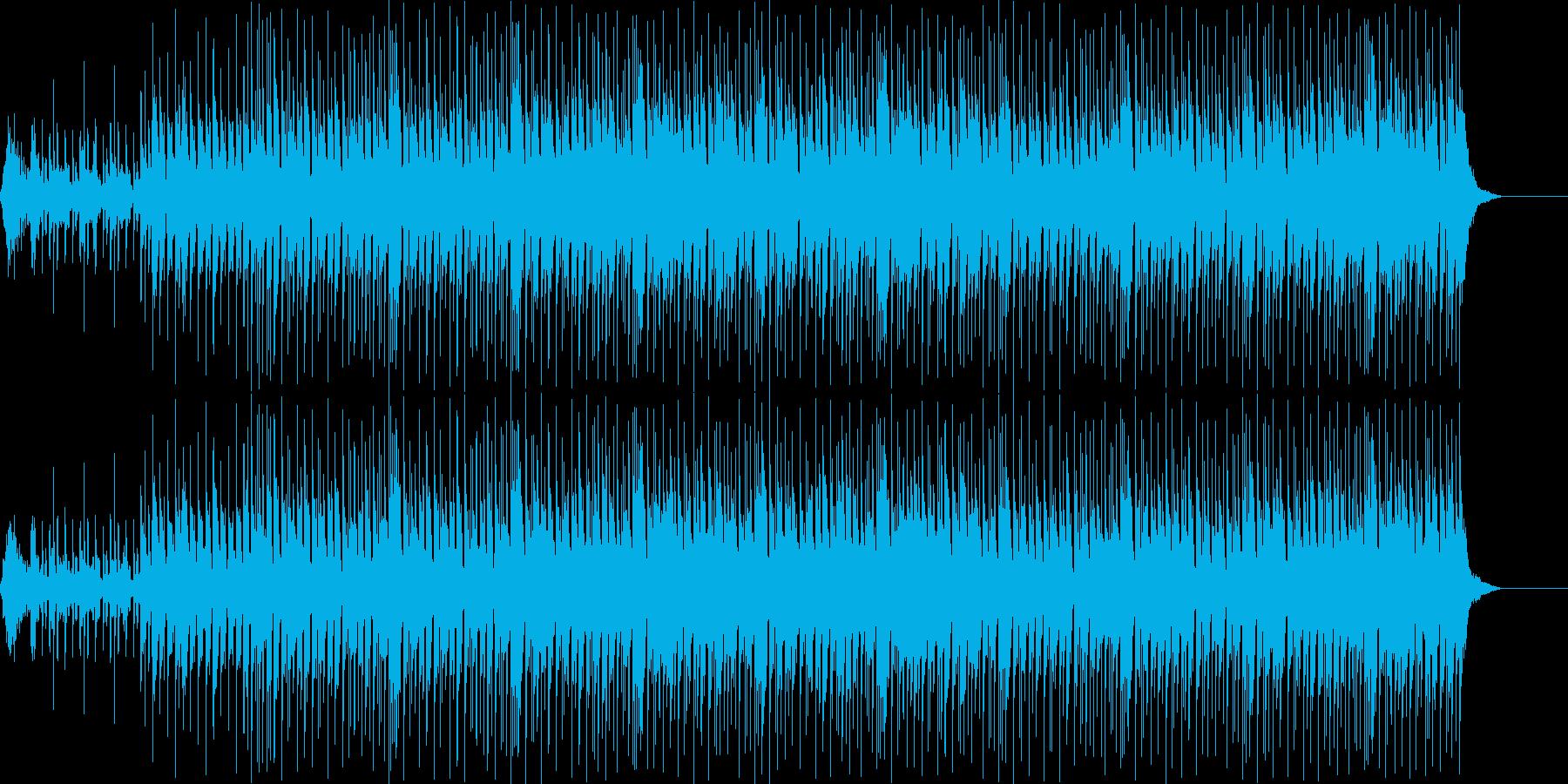 耳馴染みのCMのBGM的ポップスの再生済みの波形