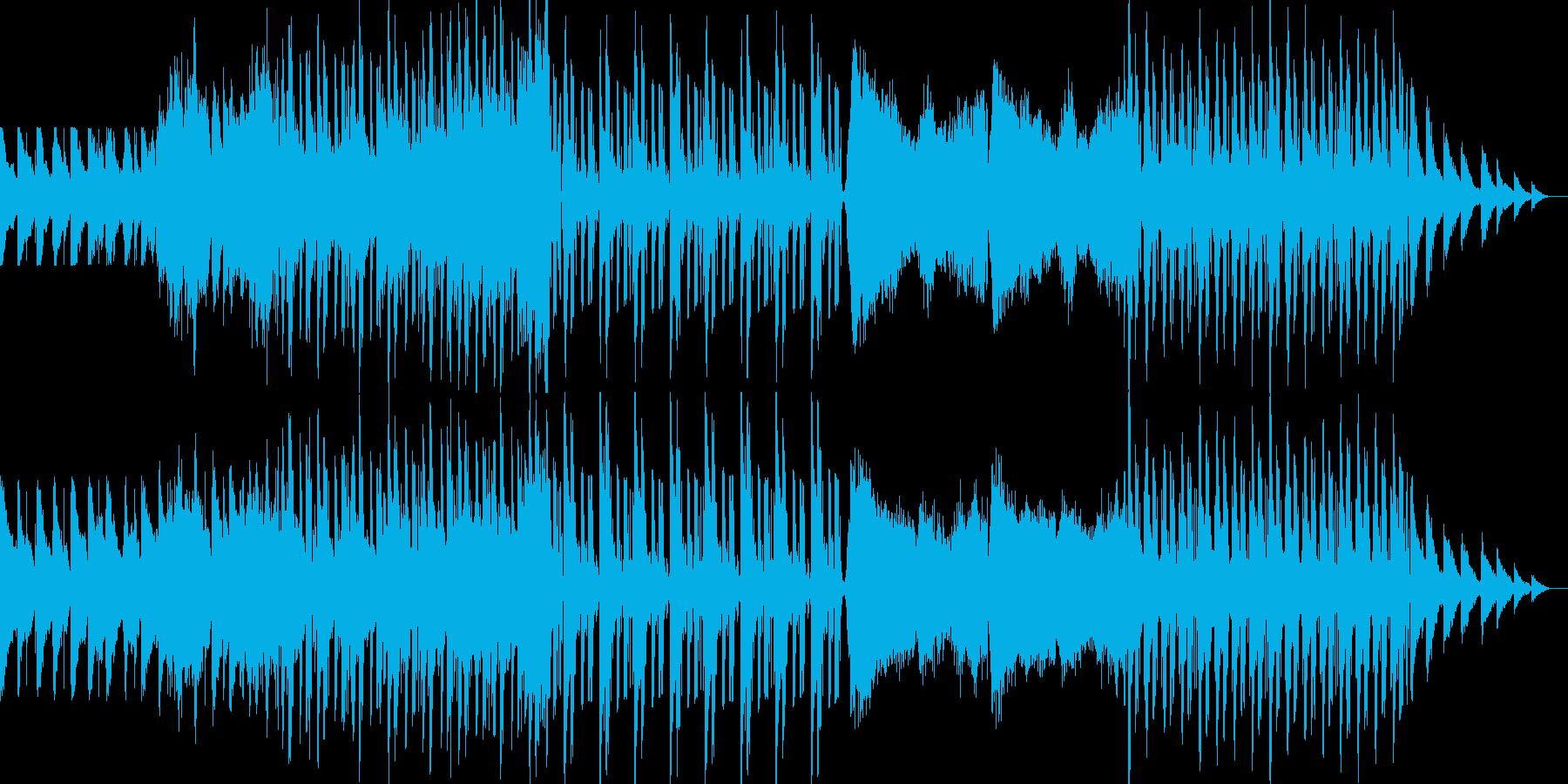 ジャジーなリラクゼーションアンビエントの再生済みの波形