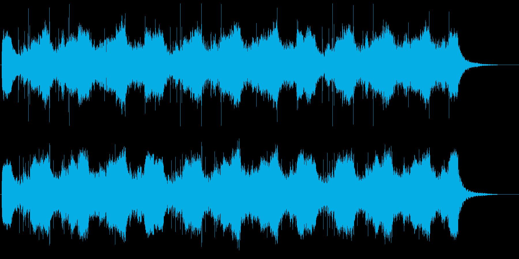シンプルなアンビエント曲の再生済みの波形