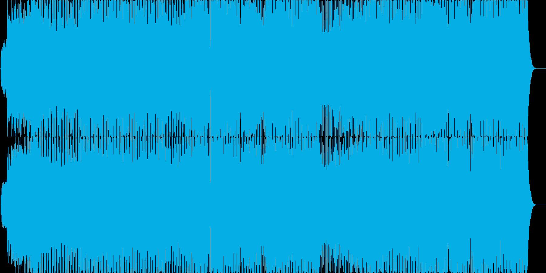 バトル競争オープニング激しさのBGMの再生済みの波形