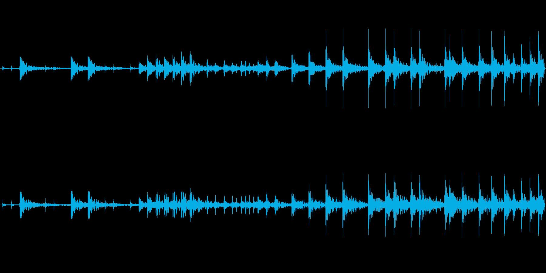 和太鼓のみのリバーブありのループ音源バ…の再生済みの波形