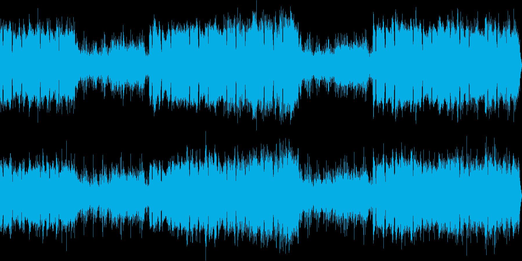 不思議な、奇妙な感じのアンビエントループの再生済みの波形