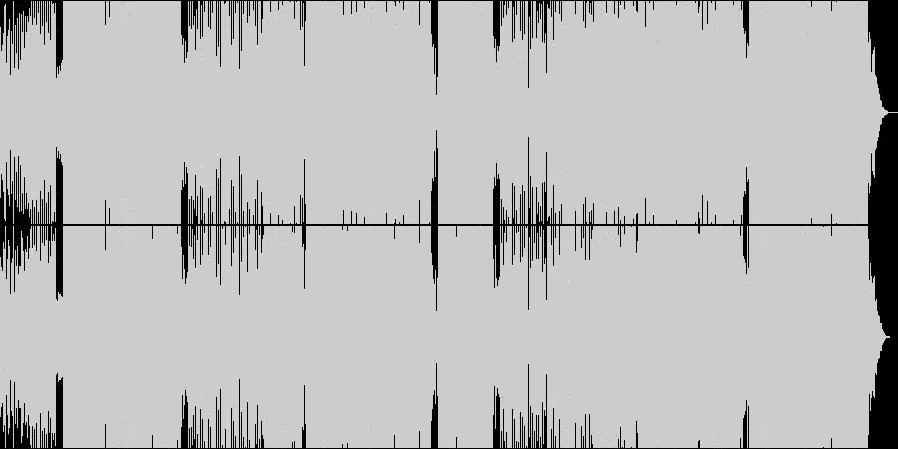 ほのぼのとした70'ダンスポップなEDMの未再生の波形