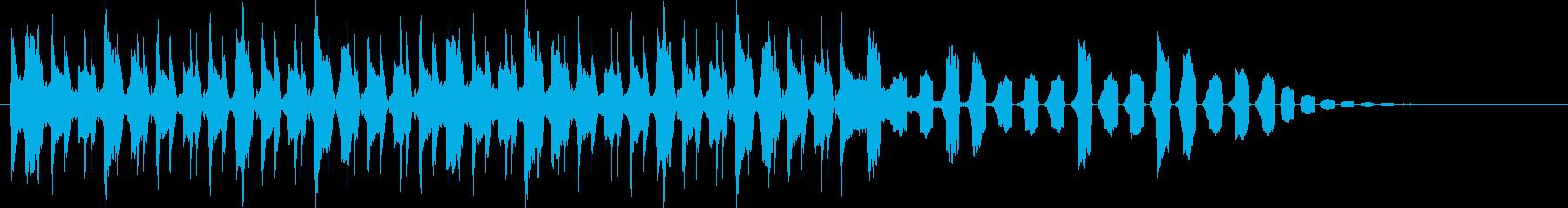 繰り返しのメロディーに次第に癒される曲の再生済みの波形