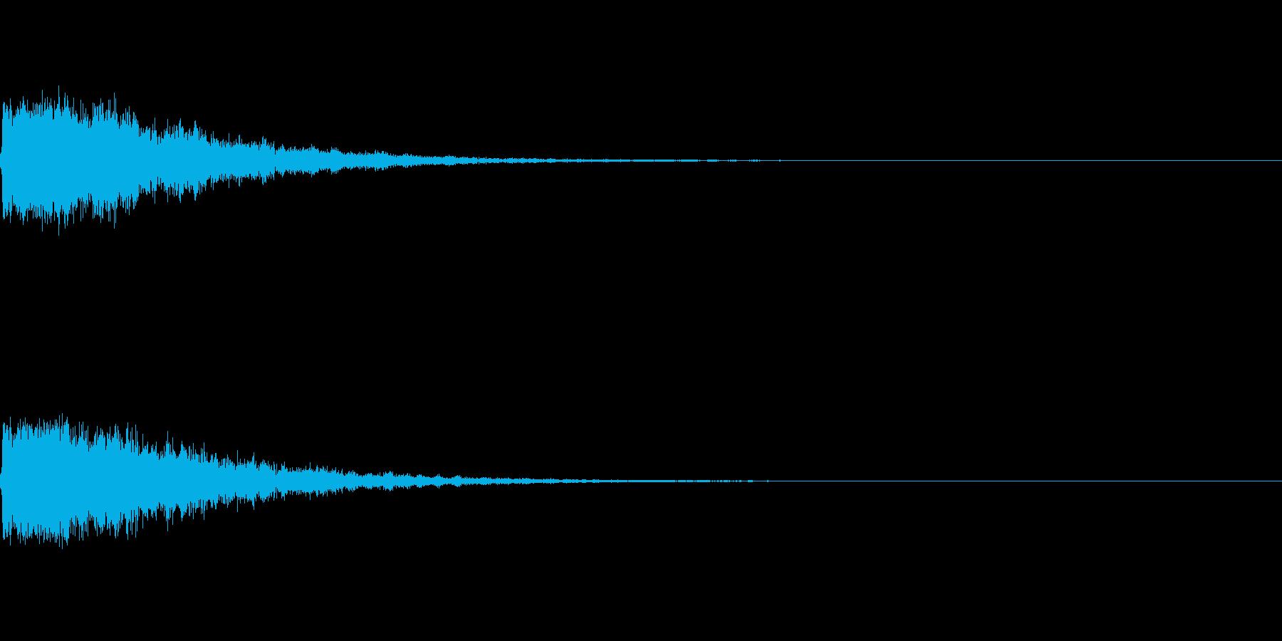 ポンッ (弾んだり、スマッシュ)の音の再生済みの波形