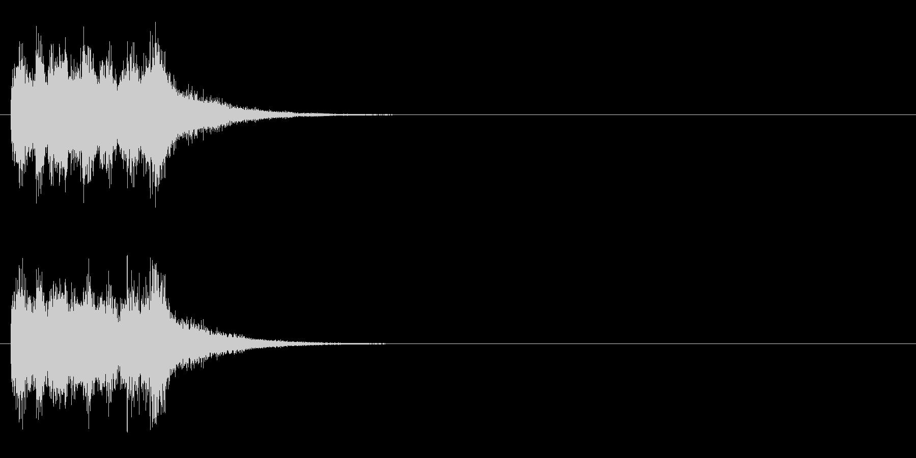 ジングル(オーケストラ・ヒット風)の未再生の波形