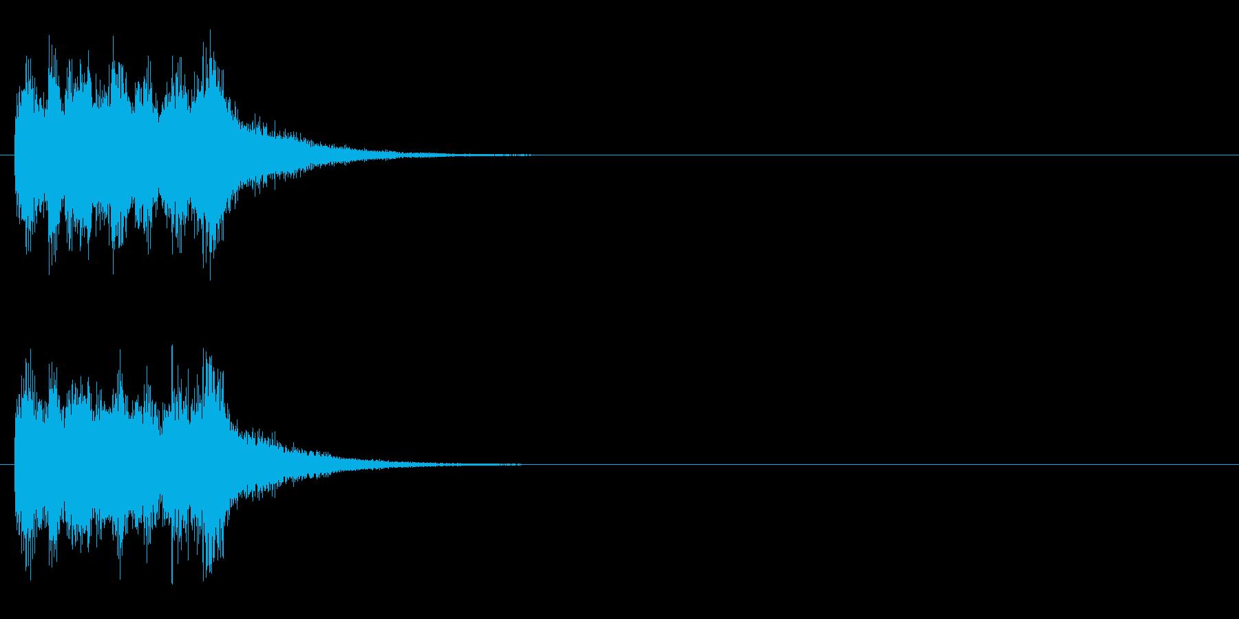 ジングル(オーケストラ・ヒット風)の再生済みの波形