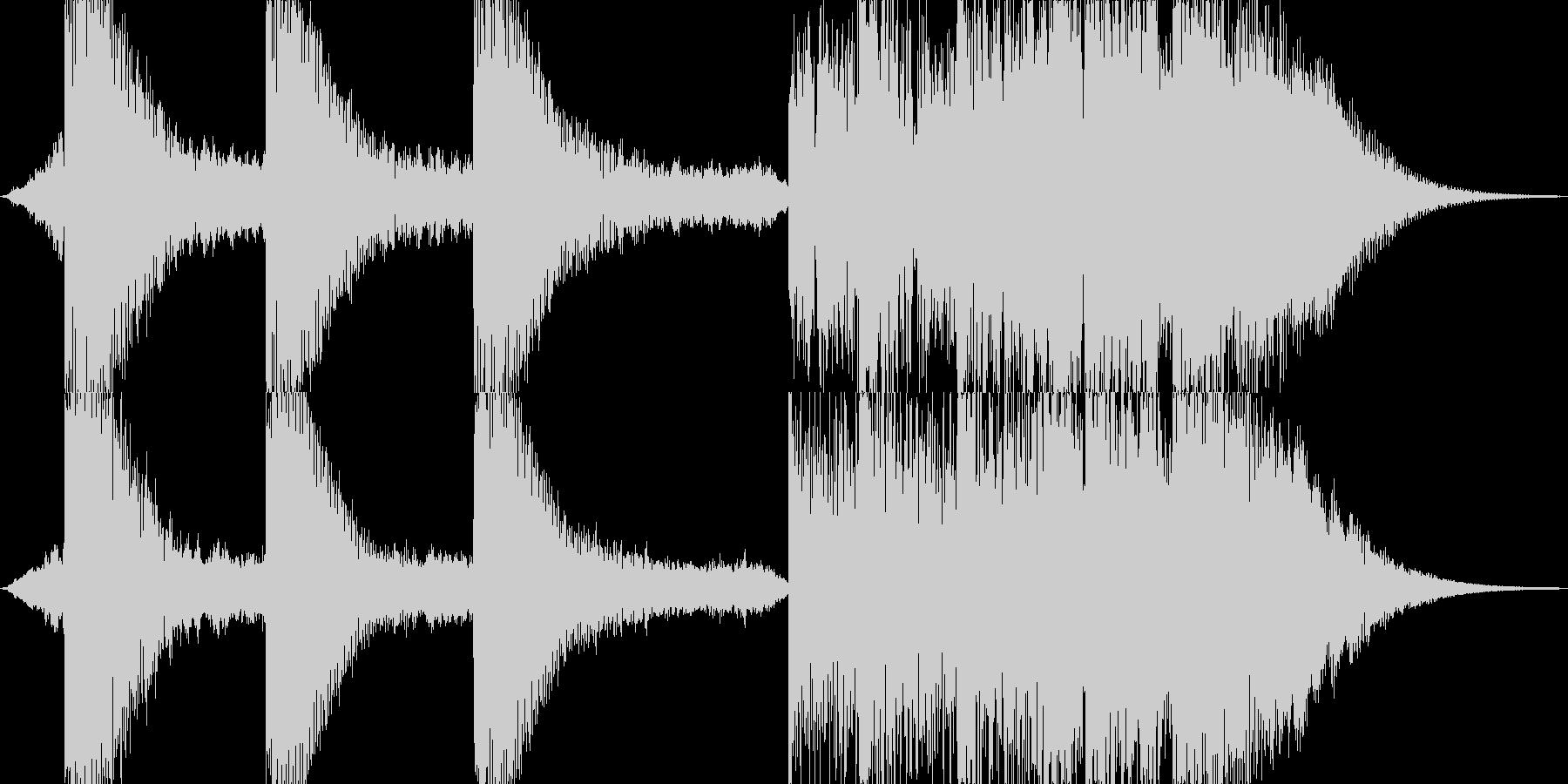 サイファイのダークでSF的な衝撃音の未再生の波形