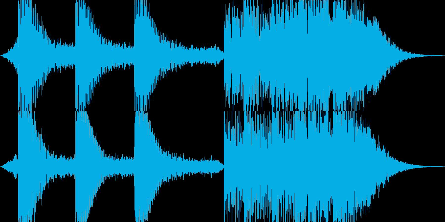 サイファイのダークでSF的な衝撃音の再生済みの波形