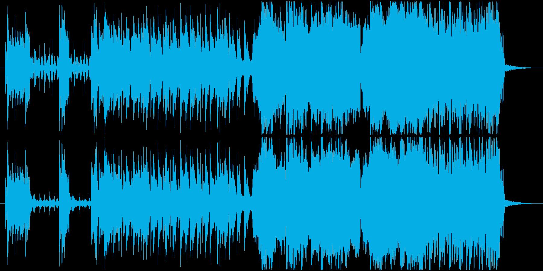 CM用 攻撃的なエレクトロロック の再生済みの波形