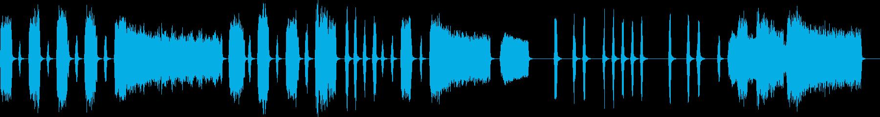 ほのぼのしたシンプルなインスト曲の再生済みの波形