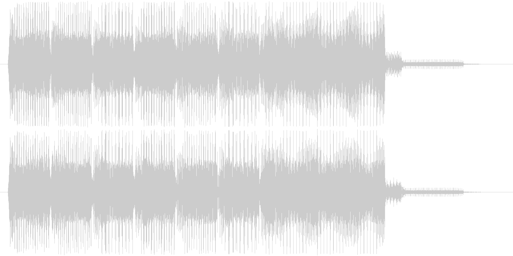タララ効果音 通過 クリア 達成 完了の未再生の波形