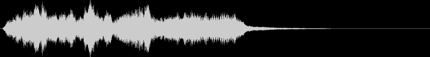 生演奏:絡み合いながら流れる弦楽四重奏の未再生の波形