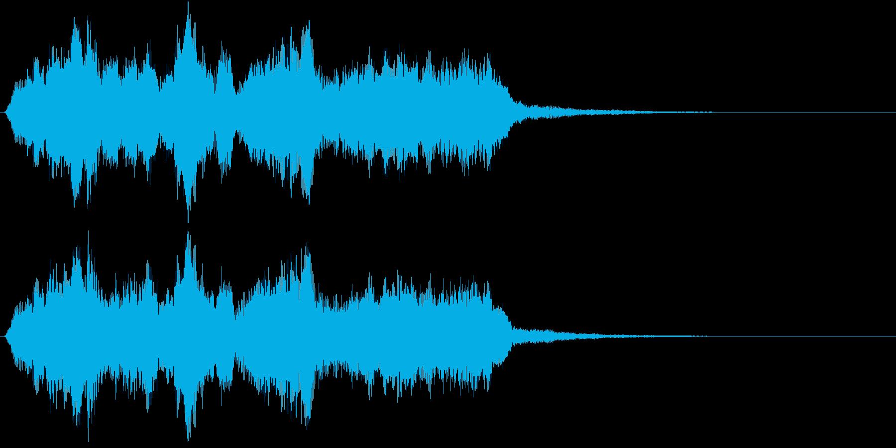 生演奏:絡み合いながら流れる弦楽四重奏の再生済みの波形