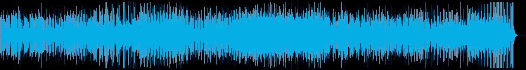 美しいピアノの現代音楽の再生済みの波形