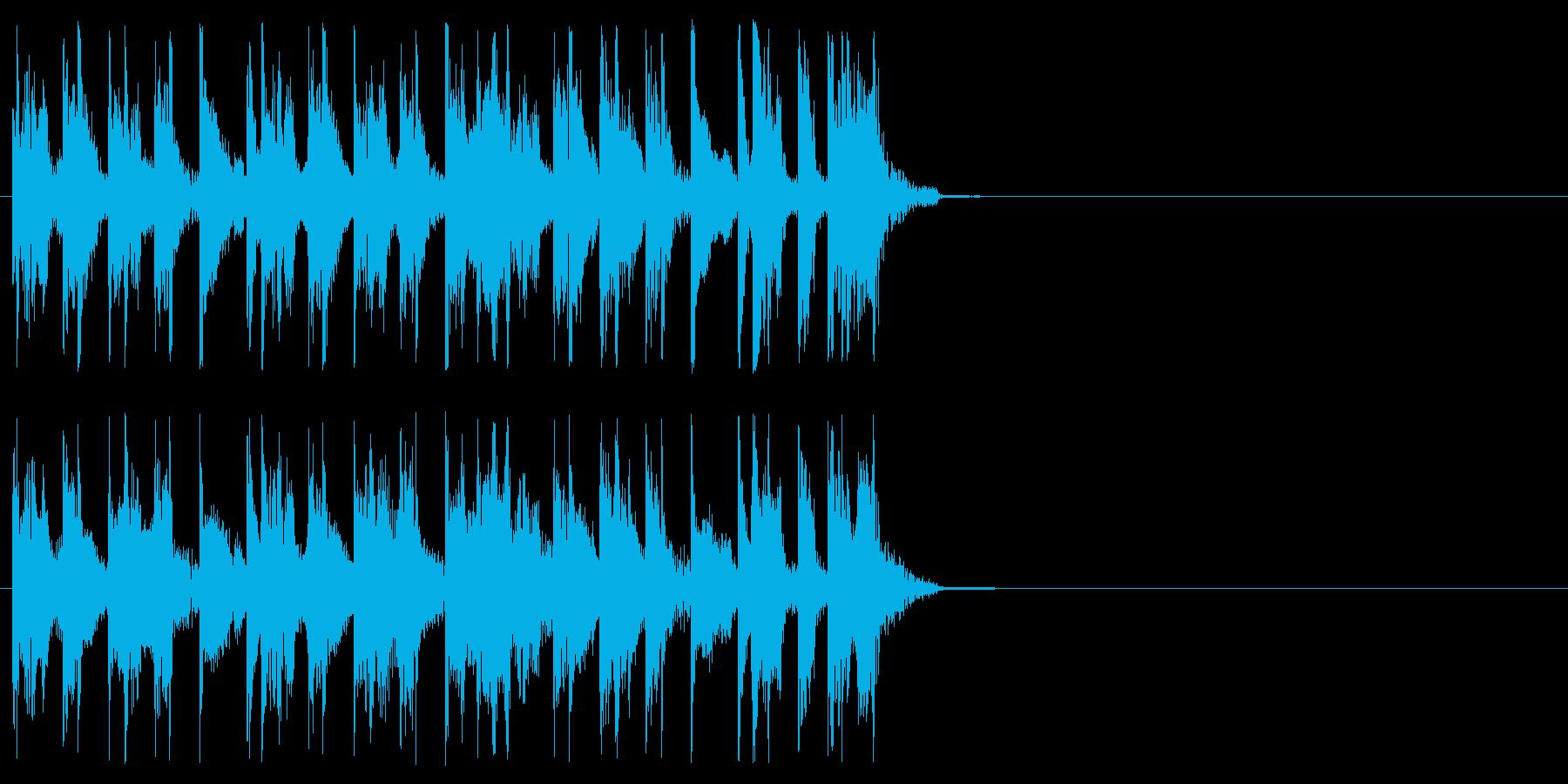 知識 クイズ 挑戦 結果発表 スリルの再生済みの波形