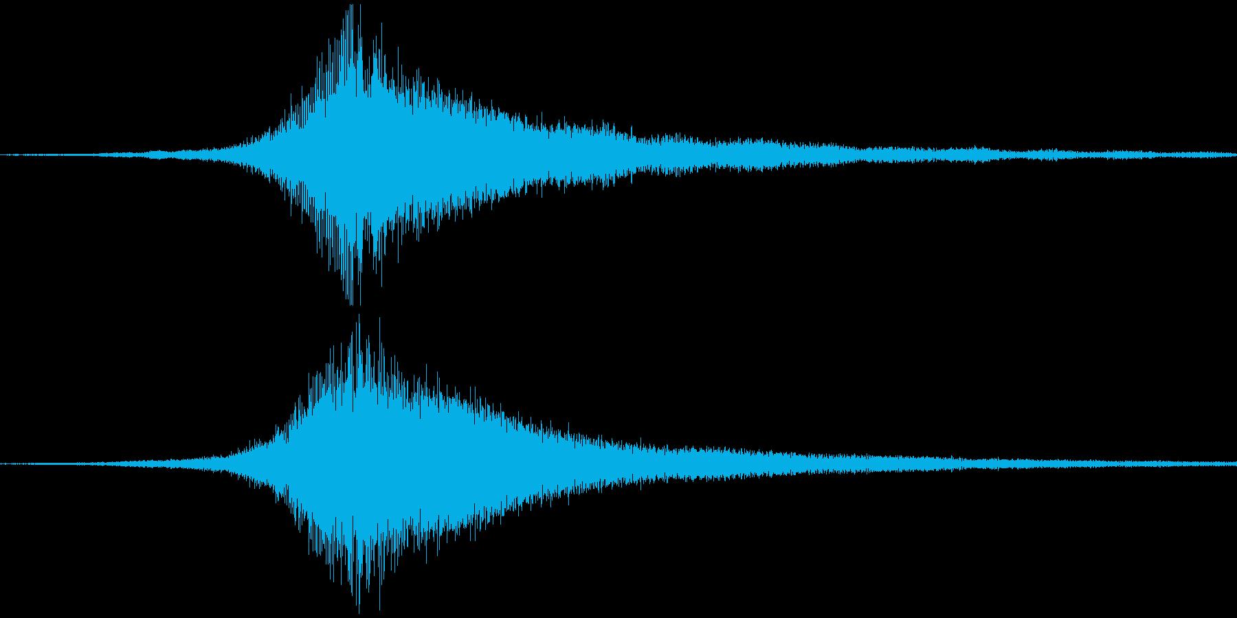 ホラーサウンドの再生済みの波形
