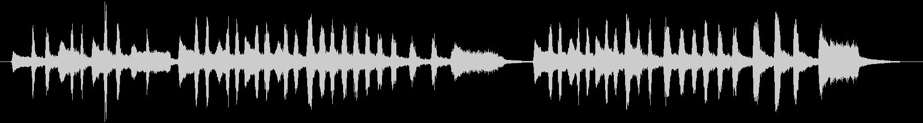 ワクワクするアコーディオンの小曲の未再生の波形