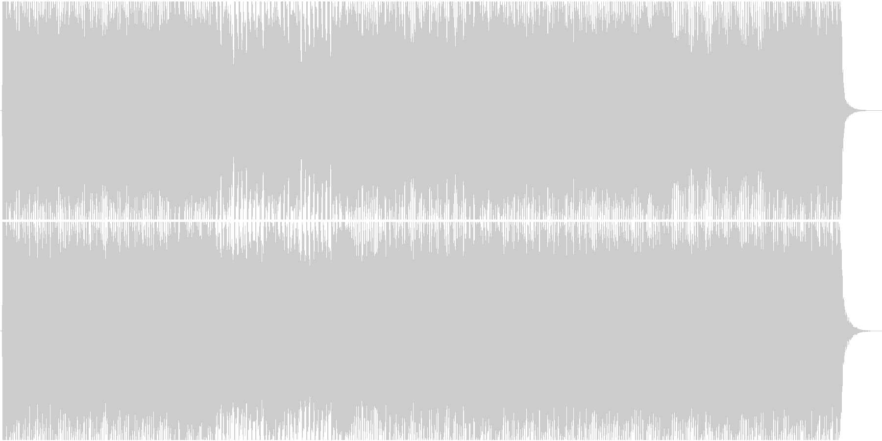 女性Vo★アニソンOP風テクノポップ曲☆の未再生の波形