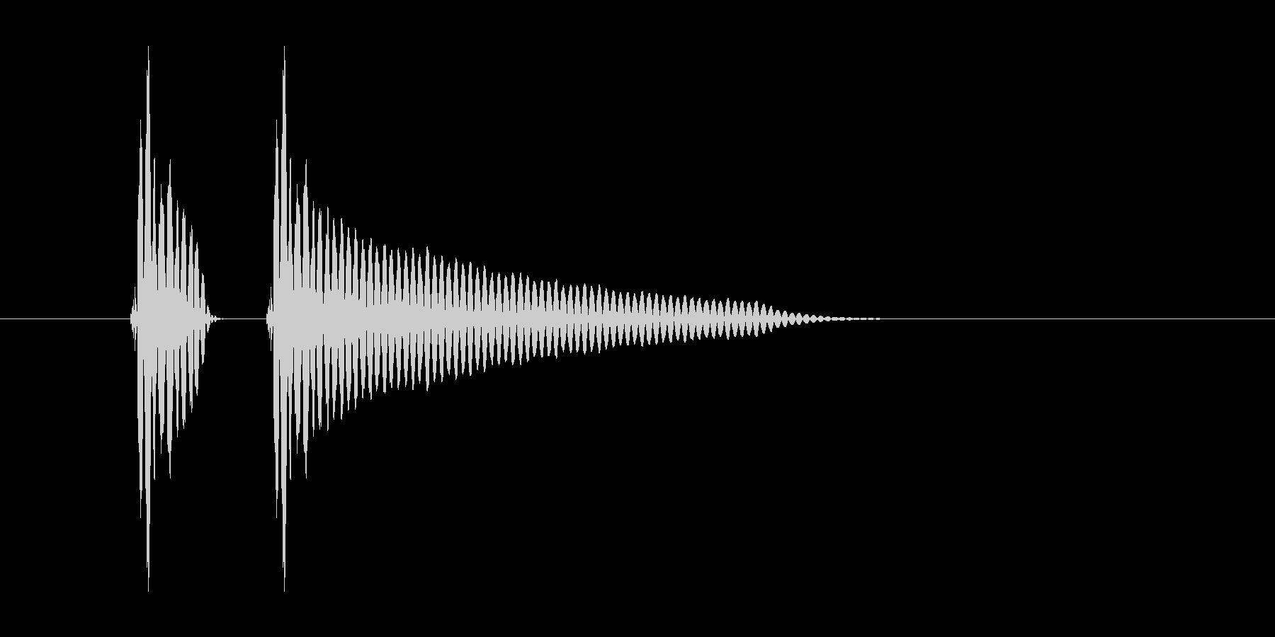 「ポンッ」スマホアプリのタッチ音想定の未再生の波形