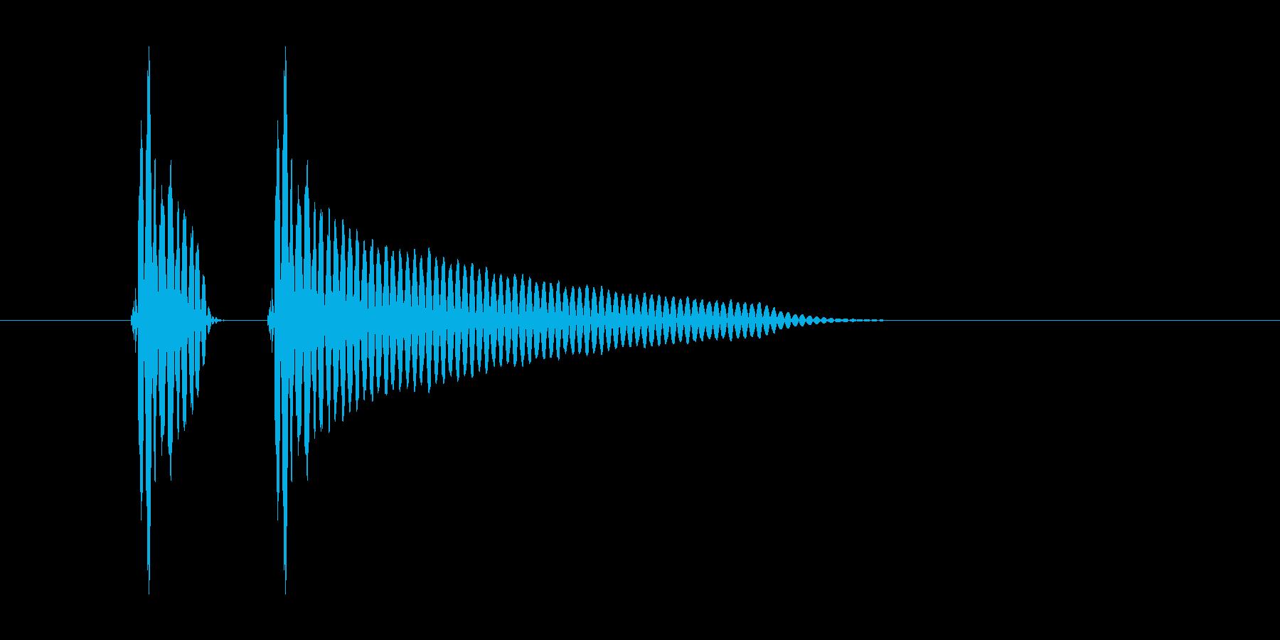 「ポンッ」スマホアプリのタッチ音想定の再生済みの波形