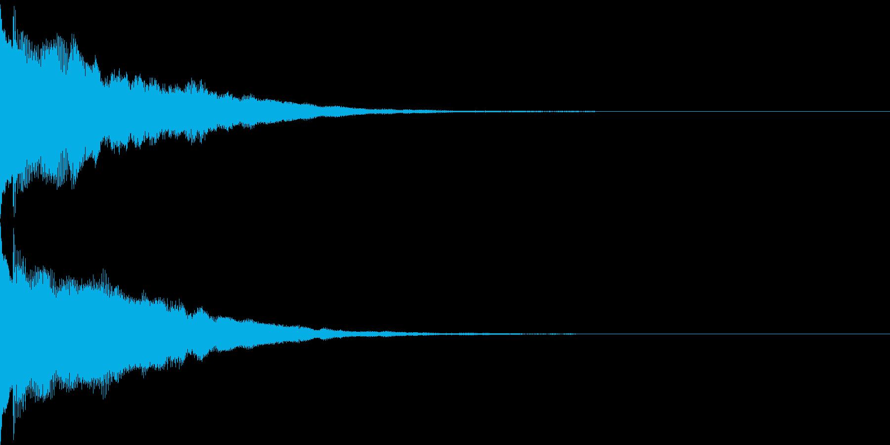 キャンセル音08(シンセP)の再生済みの波形