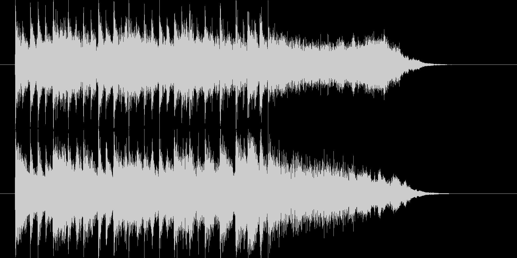 清々しくトランペットが印象的なBGMの未再生の波形