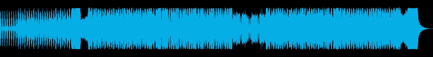 アップテンポなビートロックの再生済みの波形